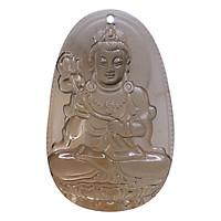 Mặt dây chuyền Đại Thế Chí Bồ Tát Thạch anh khói - Phật Bản Mệnh cho người tuổi Ngọ size lớn VietGemstones