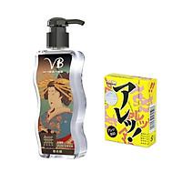 Tinh Dầu Massage Body Cao Cấp Không Mùi VB Nhật Bản 170ml ( Dầu Mát Xa Toàn Thân) + Bcs Gai Sagami (Hộp 5s) - Hàng Chính Hãng 100% - Che Tên Sản Phẩm