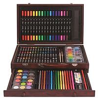 Bộ Màu Vẽ Đa Năng Hộp Gỗ Cao Cấp MS-134W Colormate