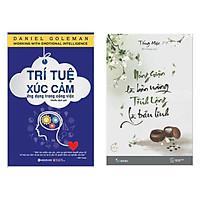 Combo 2 Cuốn Sách Kỹ Năng Sống Hay: Trí Tuệ Xúc Cảm Ứng Dụng Trong Công Việc (Tái Bản 2019) + Nóng Giận Là Bản Năng , Tĩnh Lặng Là Bản Lĩnh / Sách Tư Duy - Kỹ Năng Sống Để Thành Công Trong Cuộc Sống (Tặng Bookmark Happy Life)