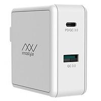 Adapter Sạc 2 Cổng 49.5W Innostyle Gomax Tích Hợp Cổng USB Type-C Hỗ Trợ Sạc Nhanh QC 3.0 Và Power Delivery PD - Hàng Chính Hãng
