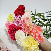 Hoa Giả Hoa Lụa -Combo 10 cành  HOA CẨM CHƯỚNG - 1 Cành 1 Bông Dài 69cm