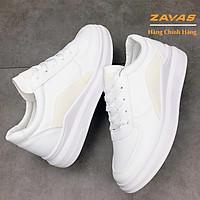 Giày thể thao sneaker nữ màu trắng đế êm nhẹ cao 3cm thương hiệu ZAVAS - S407 - Giày chính hãng