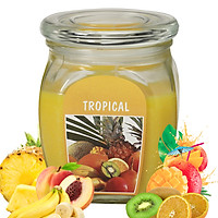 Hũ nến thơm tinh dầu Bolsius Tropical 305g QT024369 - trái cây nhiệt đới