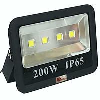 Đèn pha LED ngoài trời công suất 200W tròn chóa rộng - IP65