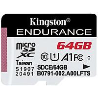 Kingston 64GB TF (MicroSD) memory card U1 C10 A1 driving recorder & home surveillance camera dedicated memory card high durability