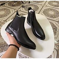 Giày chelsea Boots da bò dập vân