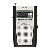 INDIN BC-R20 AM FM Battery Operated Portable Pocket Radio Mini Radio Music Player Operated by 2 AA Battery Wireless
