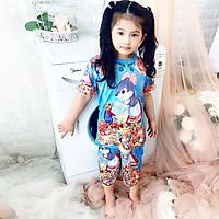 Set đồ bộ quần áo trẻ em in hình Sóc Chuột siêu dễ thương - Độ tuổi 1 - 10 - AKN004