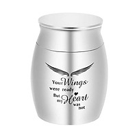 Small Cremation Urn for Pet Ashes Mini Pet Keepsake Urn Stainless Steel Memorial Keepsake Urns for Dogs Cats Ashes