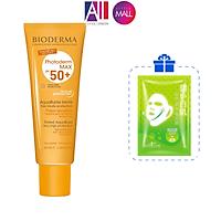 Kem chống nắng có màu Bioderma Photoderm Max Tinted SPF50+ 40ml TẶNG bông tẩy trang Jomi và mặt nạ Sexylook (Nhập khẩu)