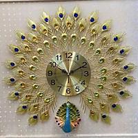 Đồng hồ treo tường - Khổng Tước Khoe Sắc DH-12225