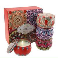 Set 4 hũ nến thơm kèm hộp dùng trang trí