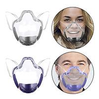 2 Pieces Clear Face Mask Durable Transparent Face Shield Covering Reusable
