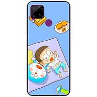 Ốp lưng dành cho Realme C15 mẫu Mèo Và Nô Ngủ