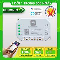 Công tắc thông minh Hunonic Lahu 4 kênh hỗ trợ Google Assistant . Công tắc cảm ứng WIFI kính cường lực- Công tắc điện 2 màu đen trắng | Hàng Việt Nam Chất Lượng Cao- BH 12 tháng