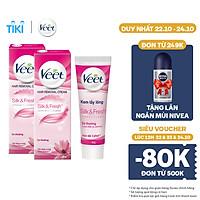 Combo 2 Kem Tẩy Lông Cho Da Thường Veet Silk Fresh 50G