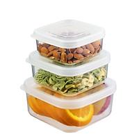 Bộ 3 hộp thực phẩm vuông Hokkaido size 500-1000-2000ml