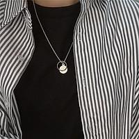 Dây chuyền nam nữ mặt nhẫn cá tính - vòng cổ titan màu bạc unisex