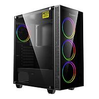 Vỏ máy vi tính GAMEMAX Darco XD (No Fan)  Màu Đen - Hàng Chính Hãng