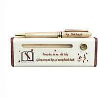 Hộp bút gỗ cao cấp chủ đề Thầy Cô (Có Bút) - WG36