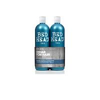 Cặp dầu gội xả phục hồi tóc hư tổn Tigi Bed Head Rehab Twin 2x750ml (Bill Anh) - Xanh mạ level 1