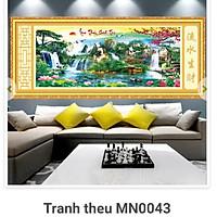 Tranh thêu chữ thập Phong cảnh Lưu thủy sinh tài MN0043 ( 150x71) MN0044 (