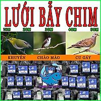 Lưới bẫy chim sợi { DÙ } & sợi { chỉ }, lưới tàng hình bẫy chim khuyên sẻ gi cu gáy chào mào các loại 15m