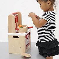 Đồ Chơi Mô Hình Nhà Bếp Bằng Gỗ Cao Cấp - dạy trẻ theo phương pháp Montessori