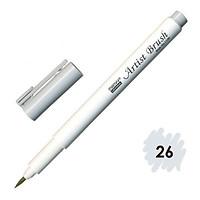 Bút lông đầu cọ viết calligraphy Marvy Artist Brush 1100 - Silver Grey (26)