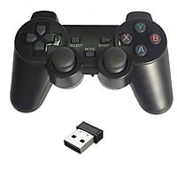 Tay cầm chơi game không dây có Rung cho máy tính, laptop, PS3, Android box - G706wd (hàng nhập khẩu)