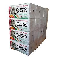 Cây 20 gói khăn giấy lau mặt, khăn giấy lụa rút cao cấp cao cấp PONYO mềm mịn - 250 tờ/ gói