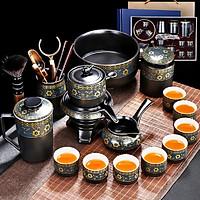 Bộ ấm chén pha trà cối xay sm006 - xanh đen trắng 16 món