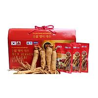 Thực phẩm bảo vệ sức khỏe Nước hồng sâm Linh chi Táo đỏ Hàn Quốc-Red Ginseng Lingzhi Jujube Gold 30 gói x 80ml, nước sâm bịch, nước sâm,(Kèm 1 Dầu lạnh Glucosamine)