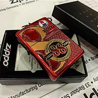 Bật lửa Zippo 88Th Anniversary Asia Red Color Clear Coating – Bản Đỏ Bóng Kỷ Niệm 88 Năm Ra Đời Bật Lửa – ZA-2-147B