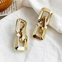 1 Pairs Of Earrings Alloy Simple Style Golden Geometric Chain Earrings