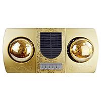 Đèn sưởi treo tường 2 bóng vàng kèm thổi gió nóng Kottmann dùng công tắc an toàn với nước IPX2 K2B-HWG