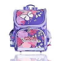 Balo chống gù lưng dạng hộp cho học sinh các cấp-World Little Girl