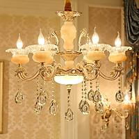 Đèn chùm pha lê 8 tay cao cấp - Tặng kèm bóng đèn LED chuyên dụng