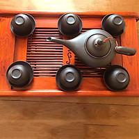 Bộ ấm trà gốm tử sa Cây Đèn Thần bao gồm khay gỗ