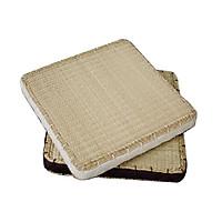 Thảm cói vuông ngồi có đệm Vuadecor kích thước 45x45cm