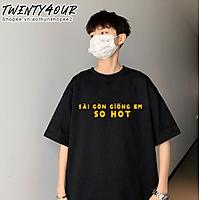 Áo Phông Tay Lỡ Nam Nữ Unisex Việt Nam Sài Gòn Giống Em So Hot 100% Cotton Thoáng Mát Phong Cách Dáng Suông