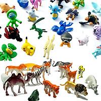 Bộ 60 mô hình động vật hoang dã và 24 Pokemon đáng yêu