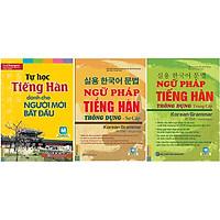 Combo Trọn Bộ Ngữ Pháp Tiếng Hàn Thông Dụng Sơ - Trung Cấp (Tặng Sách Tự Học Tiếng Hàn Cho Người Mới Bắt Đầu)