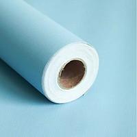 Cuộn 5m Decal Giấy Dán Tường màu xanh dương nhạt nhám (5m dài x 0.45m rộng)