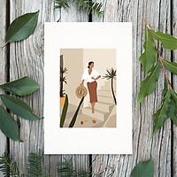 Tranh Poster Phong cách tối giản, Bohemian, Lady, Lifestyle, Fashion, Minimalism, Pastel, SOYN PTK007