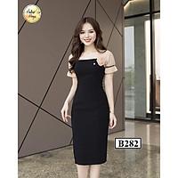 Váy đầm body B282 Đen thời trang nữ hàng thiết kế Cao Cấp