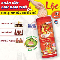 Khăn Ướt Lau Ban Thờ LỘC - Tâm Thanh Tịnh - Läupro- 45 Khăn (Laupro)