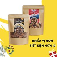 Combo ngũ cốc 8 loại hạt trái - Vị cacao & vị quả mọng - Không đường tinh luyện/phụ gia - HAPPI OHA GRANOLA