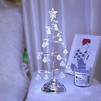 Led Cây Thông Pha Lê 33cm Dùng Pin Trang Trí Giáng Sinh